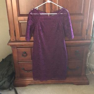 Dark Purple Vince Camuto Size 6 dress